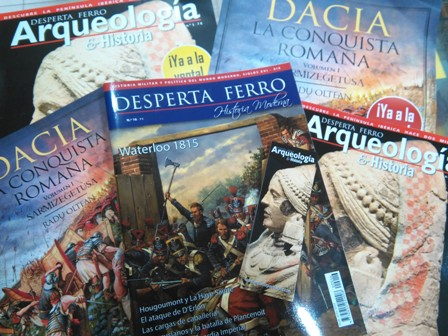 NUEVAS ENTREGAS DE DESPERTA FERRO: ARQUEOLOGÍA 1: LA CULTURA IBÉRICA, HISTORIA MODERNA 16: WATERLOO (1815) Y LA CONQUISTA ROMANA 1: DACIA